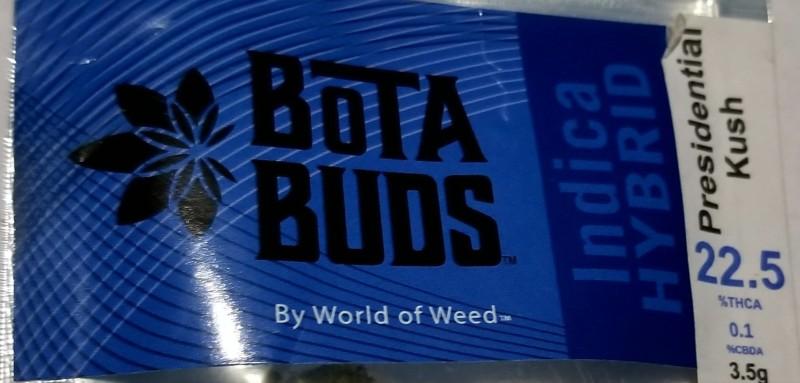 Bota Buds, Presidential Kush, Indica Hybrid