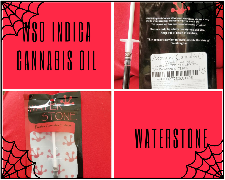 WSO Indica Cannabis Oil by Waterstone
