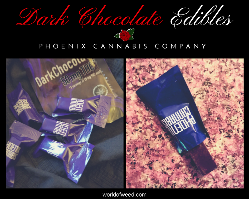 Phoenix Cannabis Company – Dark Chocolate Edibles 50 mg