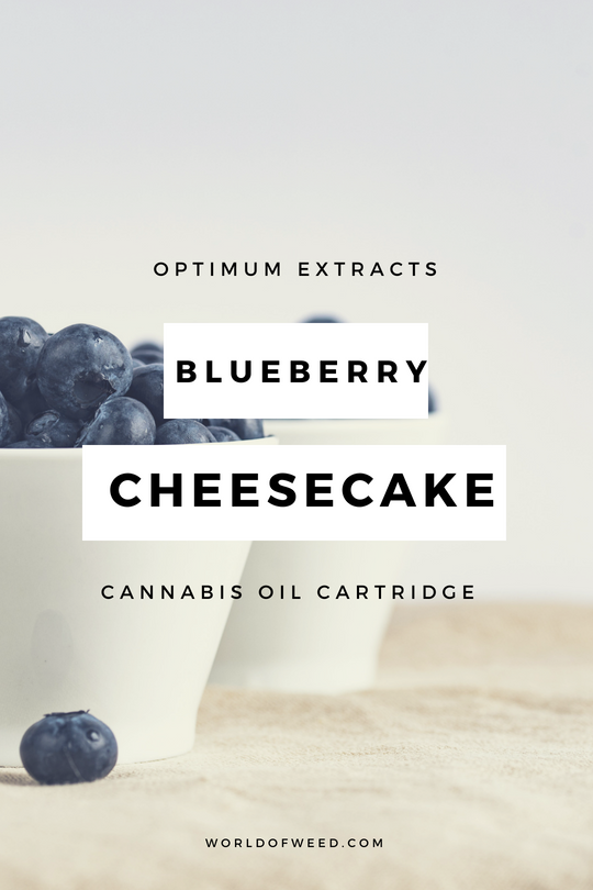 Optimum Extracts Blueberry Cheesecake Cannabis Oil Cartridge