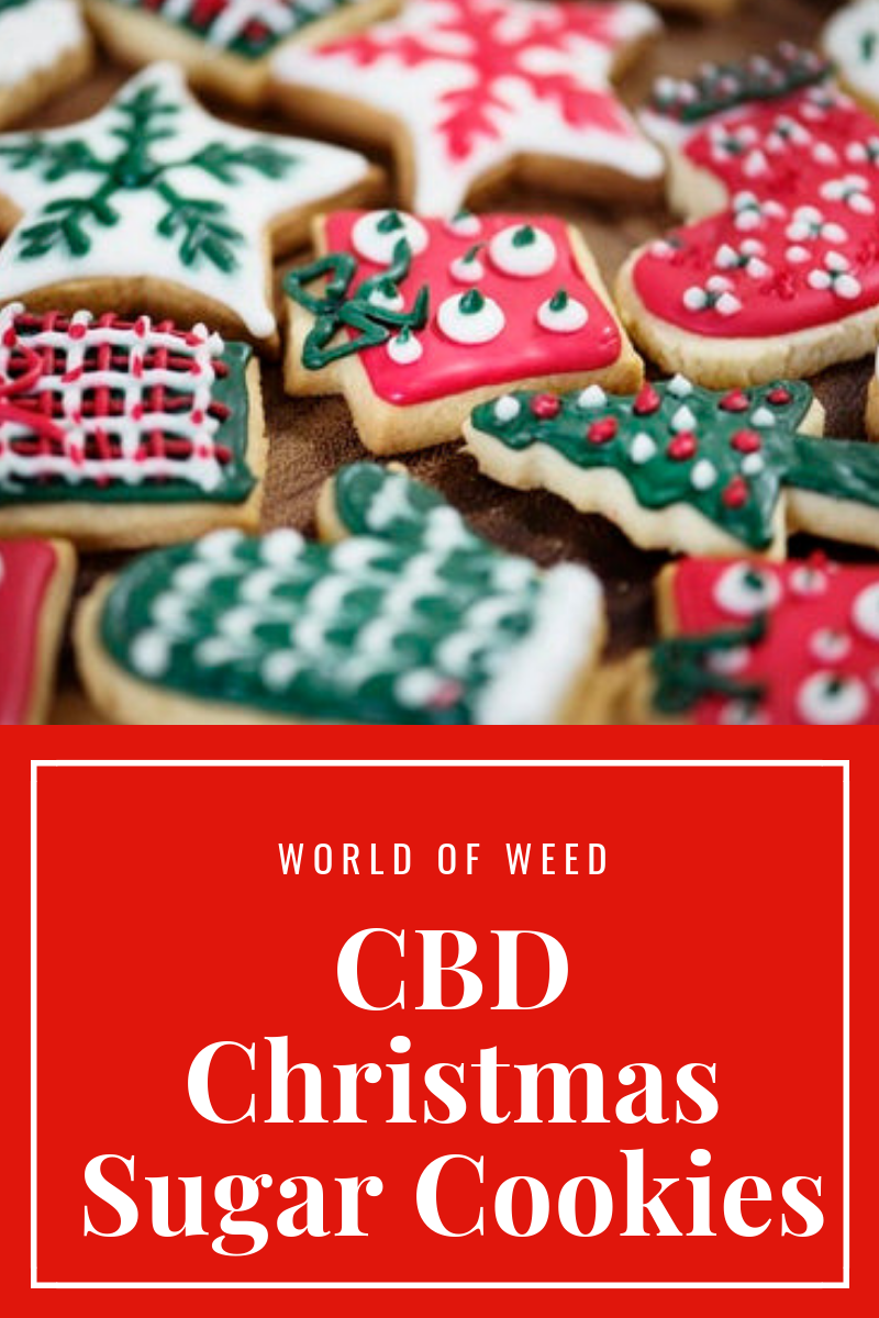 CBD Christmas Sugar Cookies Recipe
