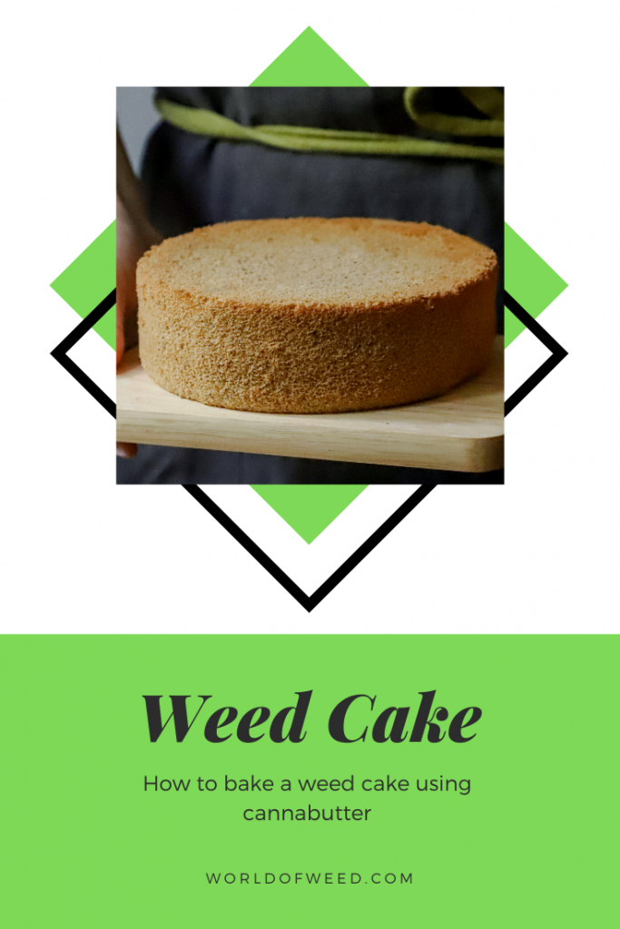 How to bake a weed cake