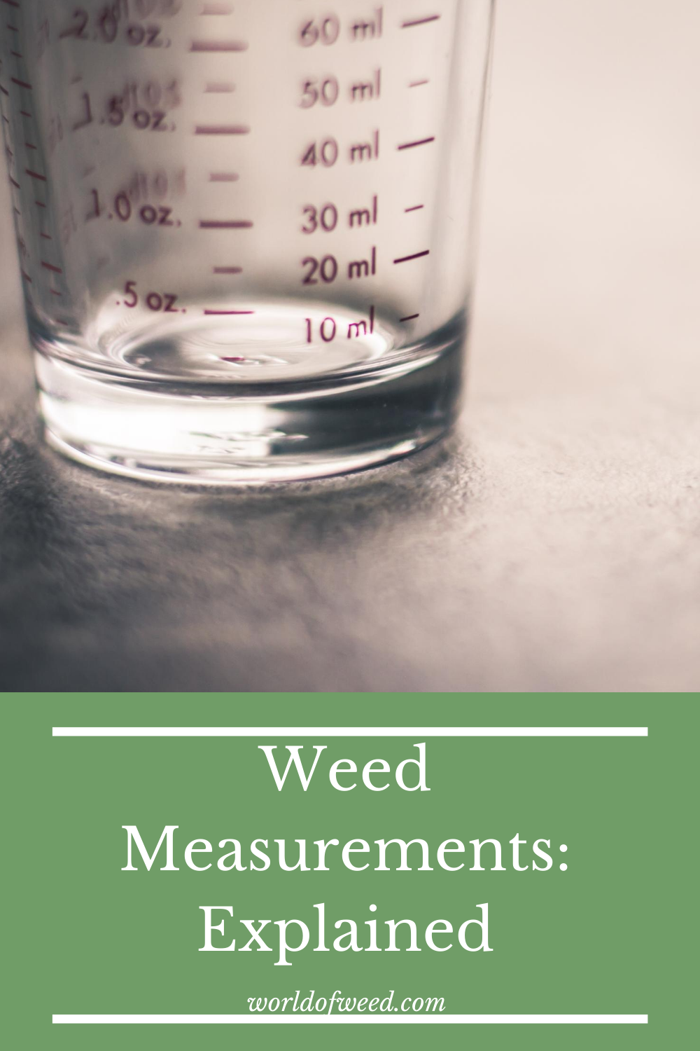 Weed Measurements: Explained